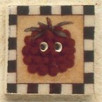 43104 - Raspberry Square Stamp - 1in x 1in